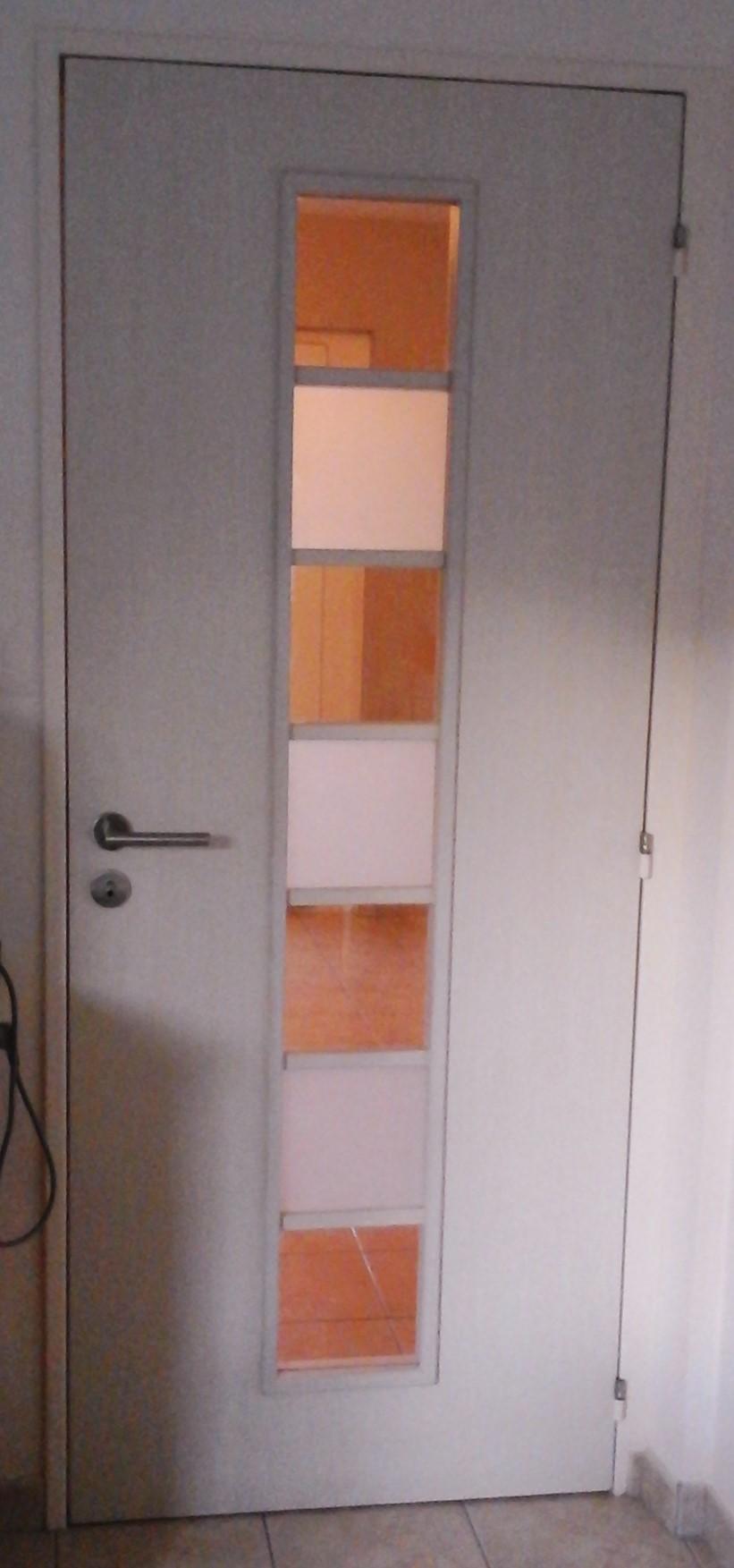 Porte  blanche 7 vitres