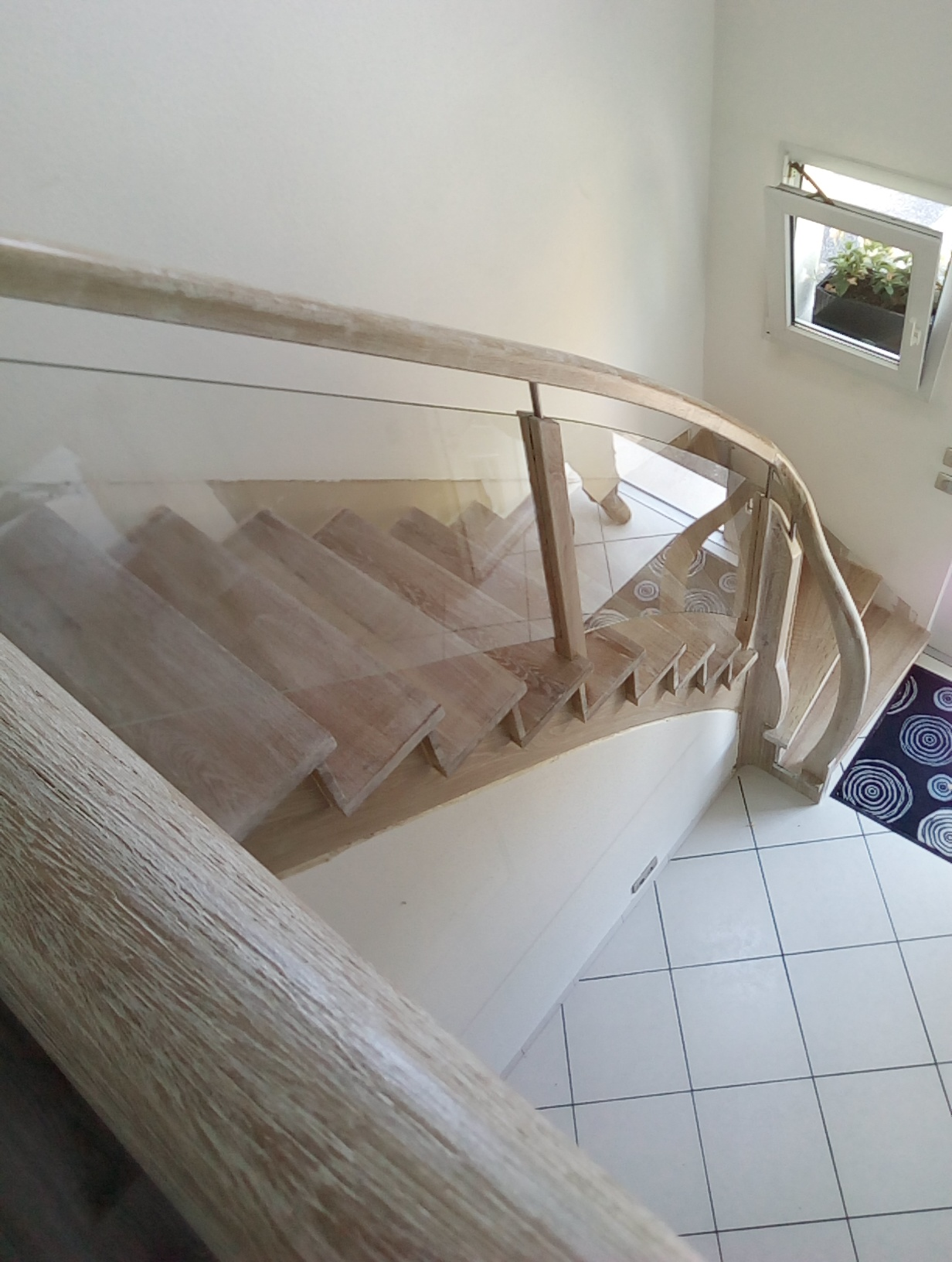 Escalier cérusé